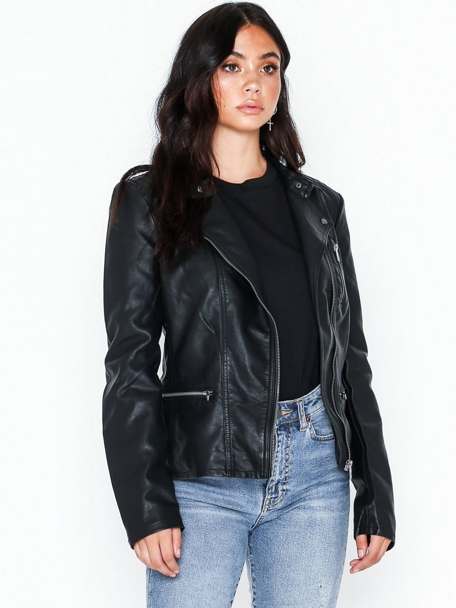 onlFREYA FAUX LEATHER BIKER OTW NOO Svart