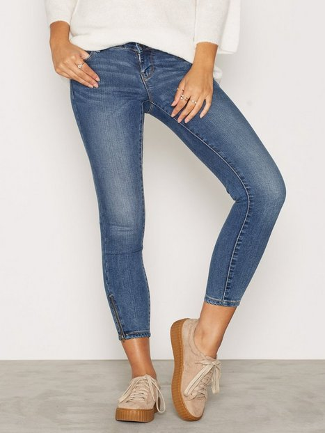 Billede af Vero Moda Vmfive Lw Ss Ankle Jeans AM057 Noos Skinny Blå