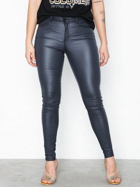 Vila Vicommit Coated Rwss New Pant-Noos Byxor & Shorts Blå - Vila