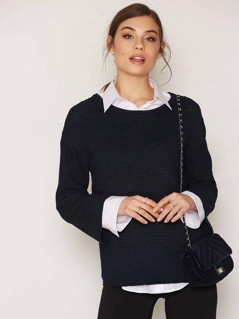 Billede af Selected Femme Sfaura 7/8 Knit Pullover Strikket trøje Mørkeblå