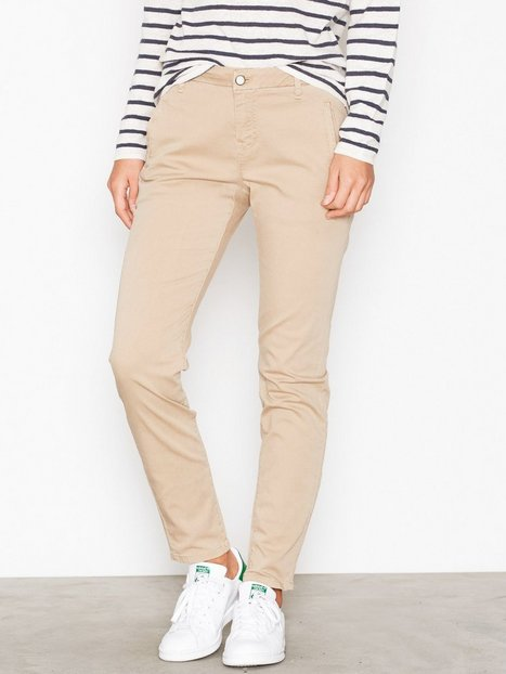 Selected Femme Sfingrid Mr 2 Tapered Chino Nomad N Byxor Ljus Brun thumbnail