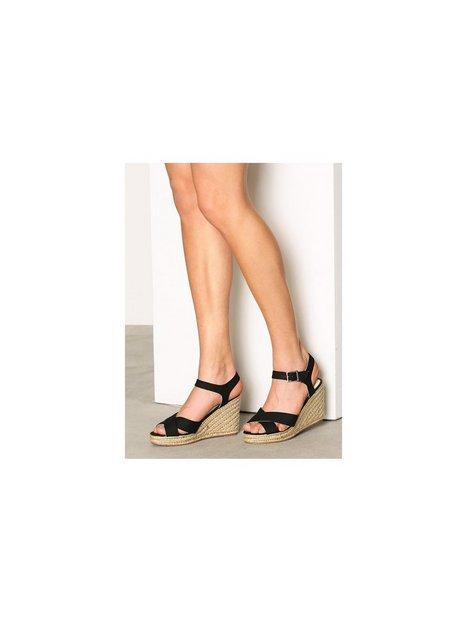 Billede af Pieces Pshalloumi Espadrillos Cross Black Heels Sort