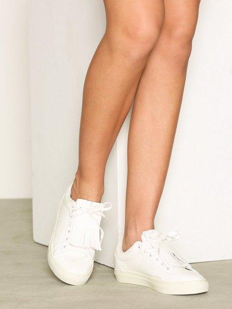 Billede af Pieces Pslope Sneaker Fringe White Low Top Hvid