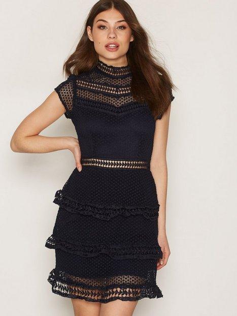 Billede af Y.A.S Yasalberte Capsleeve Lace Dress Kjoler Mørkeblå