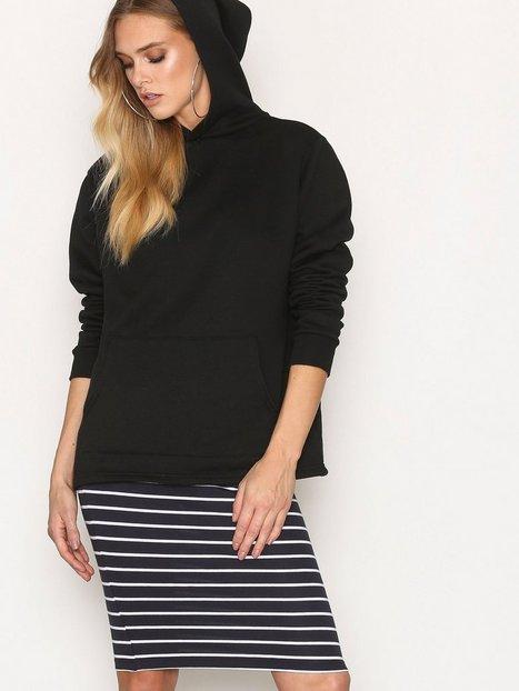 Billede af Only onlABBIE Stripe Calf Skirt Noos Midi Nederdel Mørkeblå