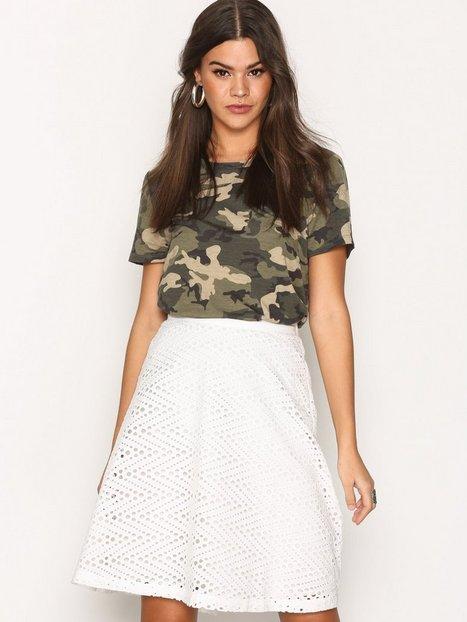 Billede af Selected Femme Sfcharline Mw Skirt Midi nederdele Hvid