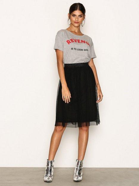 Billede af Vero Moda Vmmasha Pleat Hw Abk Skirt Dnm Jrs Nederdele Sort