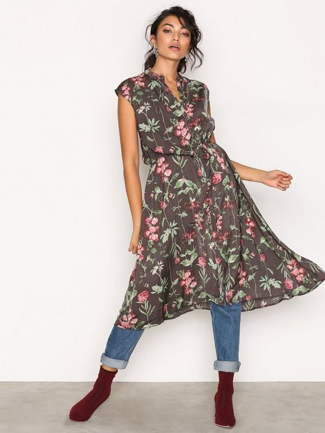 Billede af Object Collectors Item Objadrianne Print S/L Dress a Pa Loose fit dresses Sort