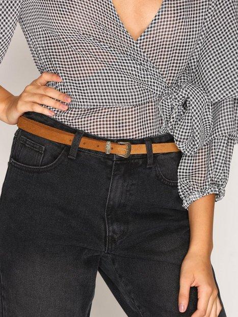 Billede af Vero Moda Vmane Suede Slim Jeans Belt Bælte Lys Brun
