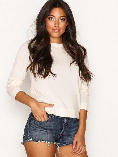 Billede af Selected Femme Sfaya Cashmere Ls Knit O-Neck Strikket trøje Hvid