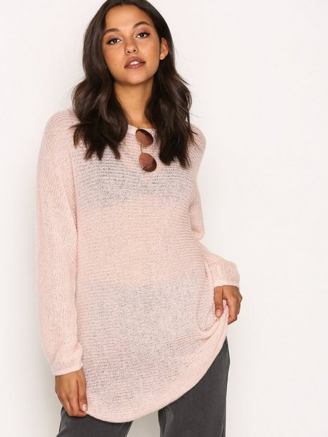 Billede af Object Collectors Item Objada Deluxe L/S Knit Pullover Rpt Strikket trøje Lyse lilla