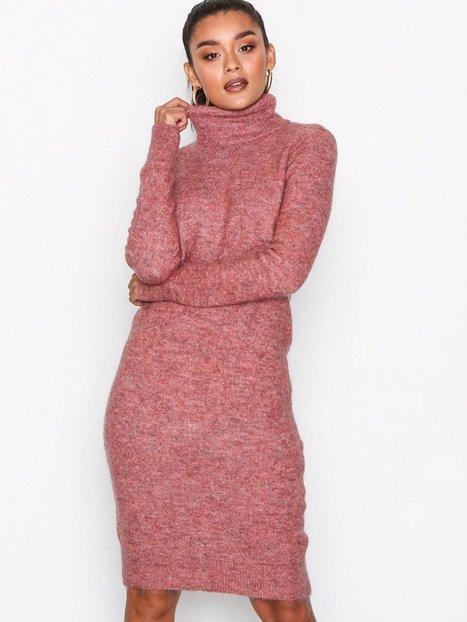 Object Collectors Item Objnete L/S Knit Dress .C Div Långärmade klänningar Rosa thumbnail