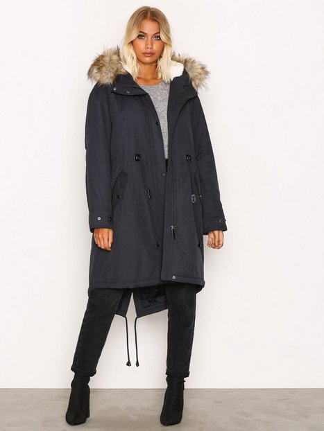 Viclover Long Parka Jacket - Vila - Dark Blue - Jackets - Clothing ...