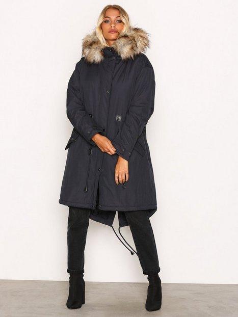 Viclover Long Parka Jacket - Vila - Dark Blue - Jackets - Clothing ...