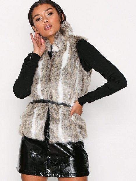 Billede af Only onlAMY Fur Waistcoat Otw Vest Lys Brun