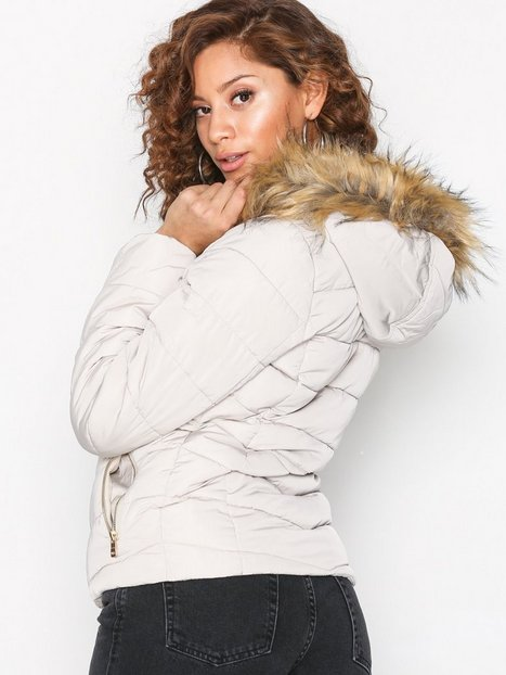 onlELLAN QUILTED FUR JACKET OTW