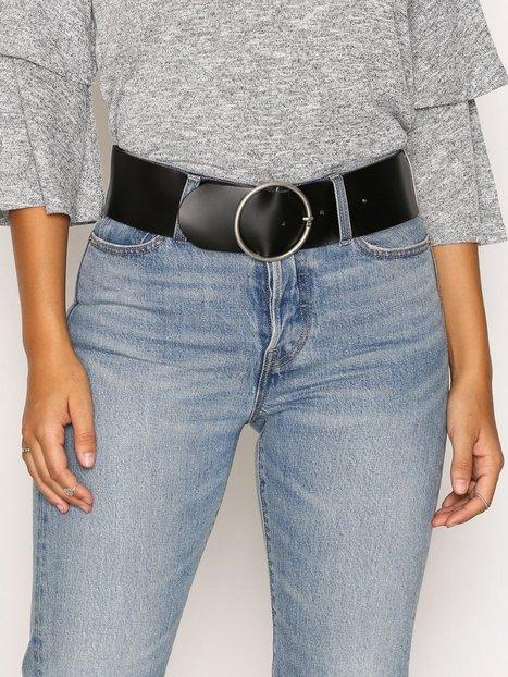 Billede af Vero Moda Vmthea Leather Waist Belt Bælte Sort