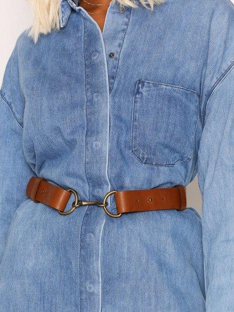Billede af Vero Moda Vmjane Leather Waist Belt Bælte Lys Brun