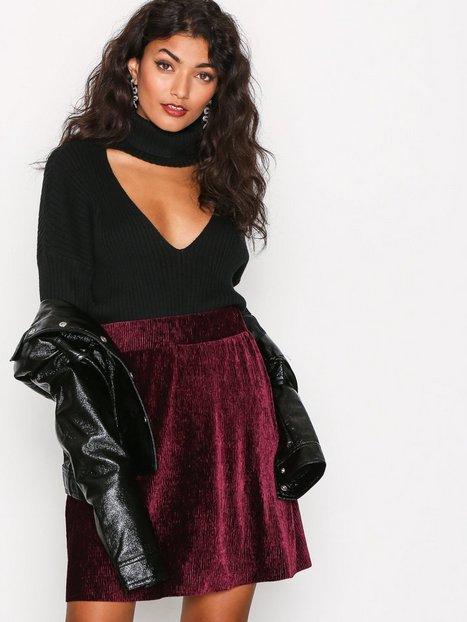 Billede af Pieces Pcalibama Velvet Skirt Ff Midi nederdele Blomme