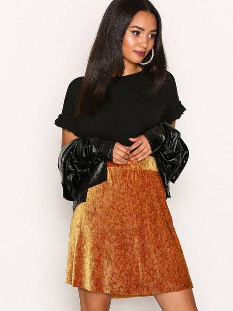 Billede af Pieces Pcalibama Velvet Skirt Ff Mini nederdele Mörkorange