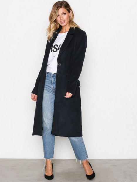 Onllouise Oversized Long Wool Coat - Only - Dark Blue - Jackets ...