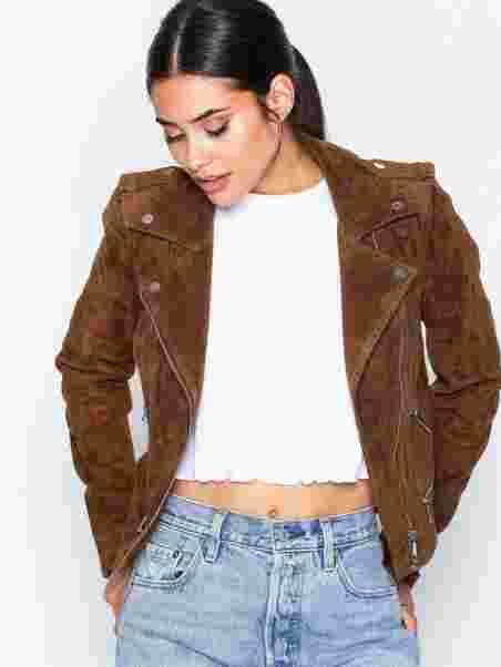 731a71d7 Vmroyce Short Suede Jacket Col - Vero Moda - Light Brown - Jackets ...