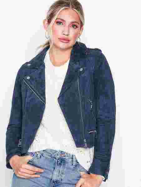 ccb7ba3d02dd2b Vmroyce Short Suede Jacket Col - Vero Moda - Dark Blue - Jackets ...