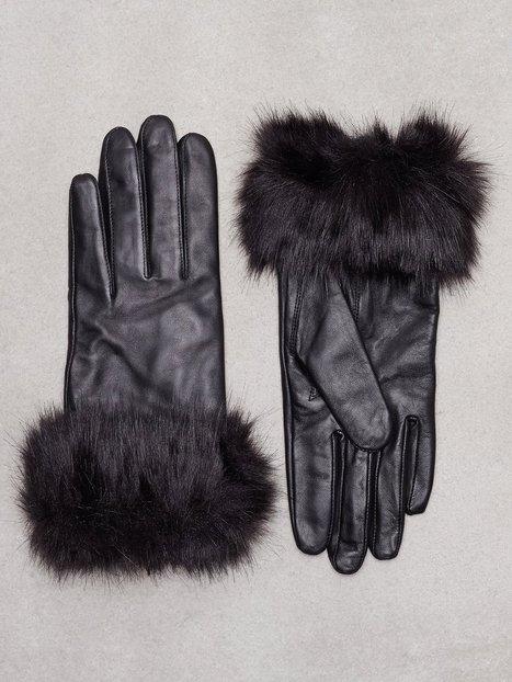 Billede af Vero Moda Vmfury Leather Gloves Vanter og handsker Sort