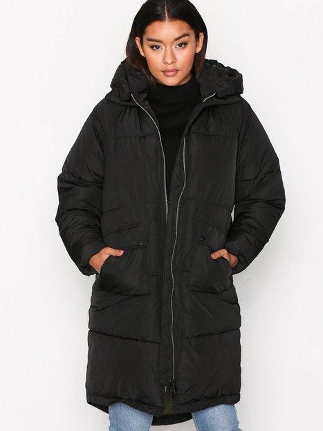 Only onlGINA Oversized Long Nylon Coat O Parkatakit Musta thumbnail