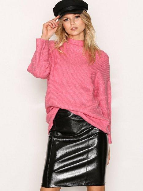 Only onlANN Faux Leather Midi Skirt Otw Minihameet Musta thumbnail