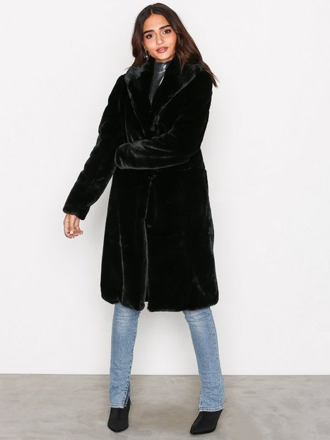 Vmlux Long Faux Fur Jacket - Vero Moda - Black - Jackets ...