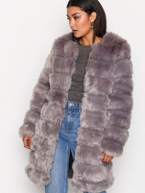 Billede af Y.A.S Yasfaux Fake Fur Jacket Faux Fur Grå