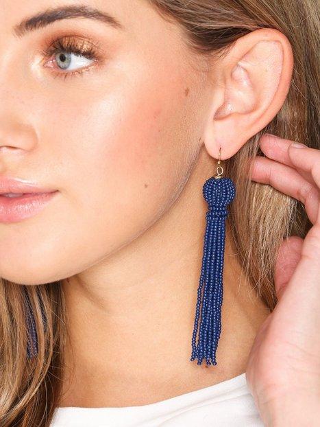 Billede af Only onlABBY Tassel Earring Acc Smykker Mørkeblå