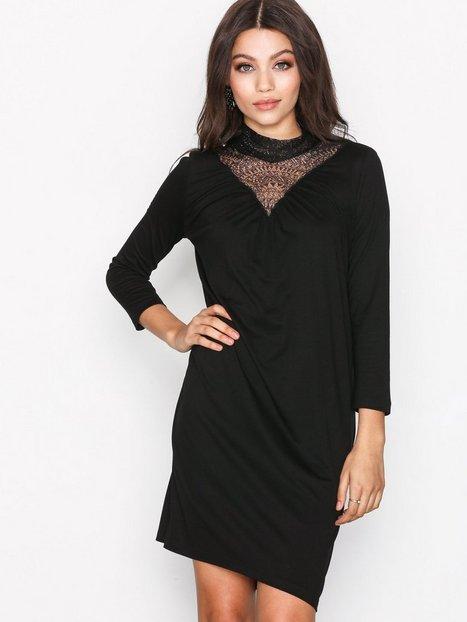 Vero Moda Vmviva Lace V-Neck 3/4 Short Dress Kotelomekot Musta thumbnail