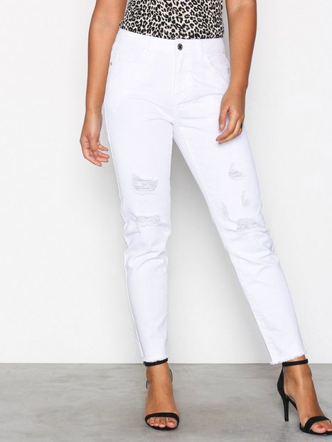 Noisy May Nmkim Nw Loose Destroy Color Jeans Straight - Noisy May
