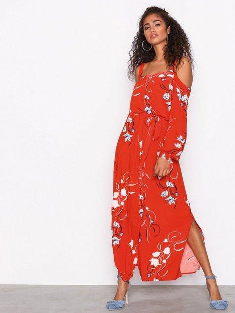 Billede af Y.A.S Yasbluebell Ls Ancle Dress Maxikjoler Orange