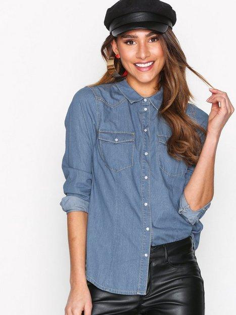 Billede af Vero Moda Vera Ls Denim Shirt Lt. Vintage B Skjorte Lyse Blå