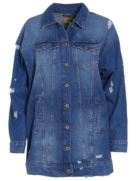 onlCRISPY LONG DENIM JACKET MB NOOS