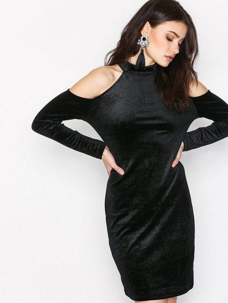 Billede af Pieces Pcagnete Glitter T-Neck Dress Kropsnære kjoler Sort