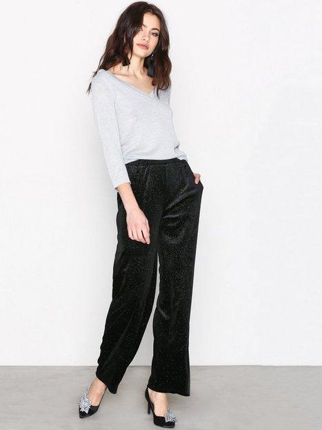 Billede af Pieces Pcagnete Glitter Wide Pants Bukser Sort