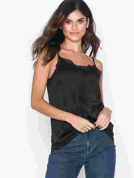 4cba2bce186 Vicava Lace Singlet - Noos - Vila - Black - Tops - Clothing - Women ...