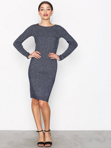 Jacqueline de Yong Jdyaldea L/S Dress Knt Loose fit dresses Mörk Blå thumbnail
