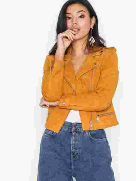 c8cee3c2 Vmroyce Short Suede Jacket Noos - Vero Moda - Orange - Jackets ...