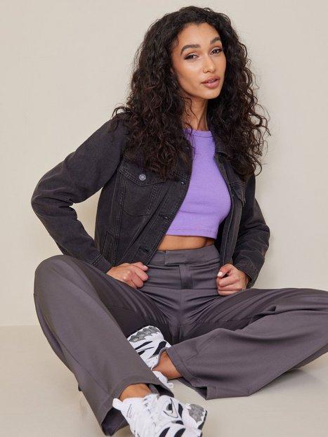 Noisy May Nmole L/S Black Denim Jacket Noos Jeansjackor - Noisy May