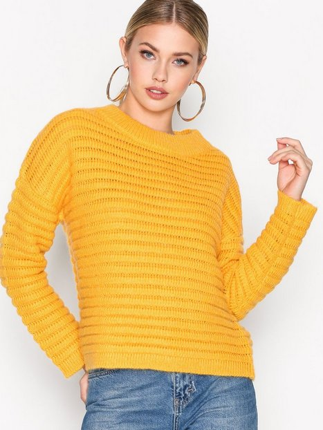 Selected Femme Sfbila Ls Knit O-Neck Stickade tröjor Orange thumbnail