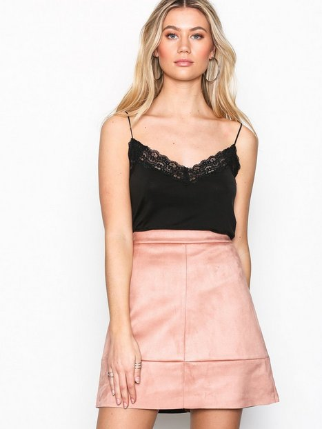 PCAMELIA HW FAUX SUEDE SKIRT