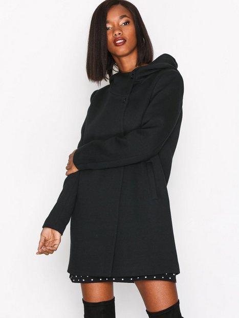 Only onlFAIRY Mel Hooded Long Coat Cc Ot Pitkät takit Musta thumbnail