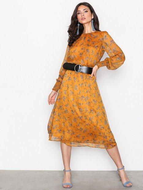 Y.A.S Yastape Ls Midi Dress Pitkähihaiset mekot Oranssi thumbnail