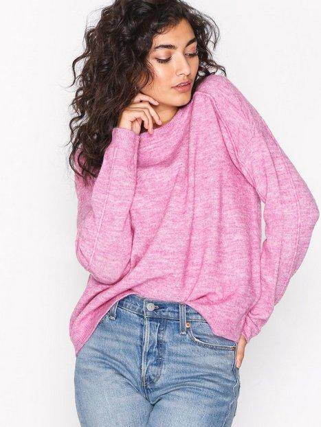 Billede af Vero Moda Vmagoura Ls New O-Neck Blouse a Im Strikkede trøjer Lyse lilla