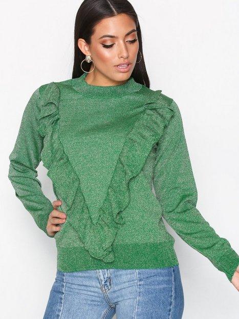 Billede af Selected Femme Sfagnes Ls Knit O-Neck Rt Strikkede trøjer Mørke Grøn